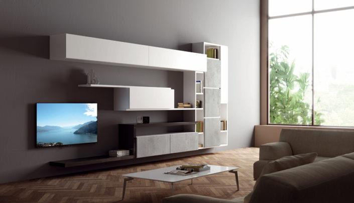 Zona giorno moderna mobilia group divani cucine e for Divani mobilia