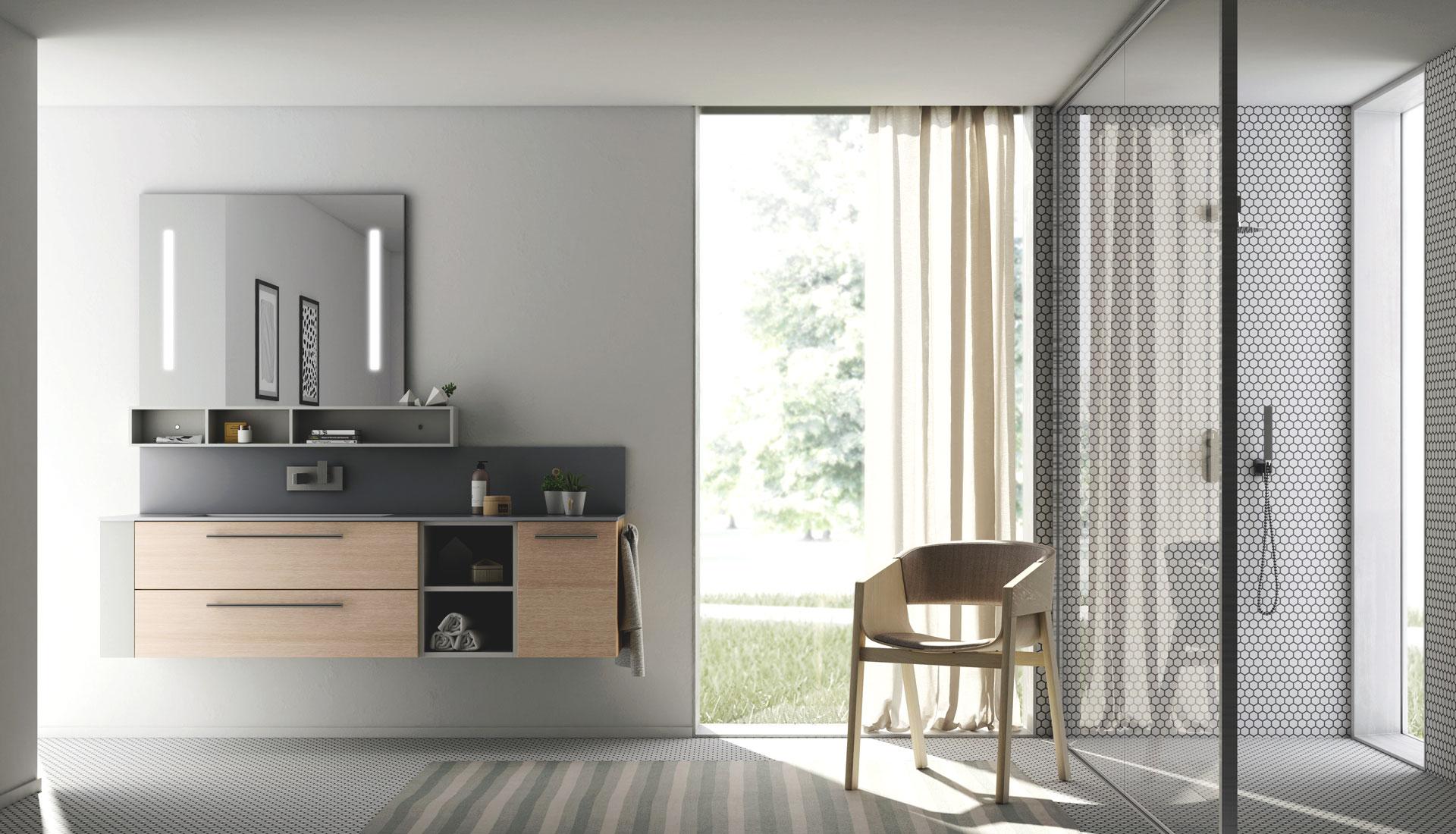 Puntotre composizione l08 mobilia group divani for Mobilia spazio